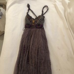 Free People Purple Sequined Maxi Dress size 2